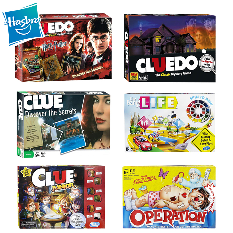 Hasbro Cluedo Multi Version Clue Board Secrets Desk Game -The Classic Mystery Harry Family Party Games With English Version