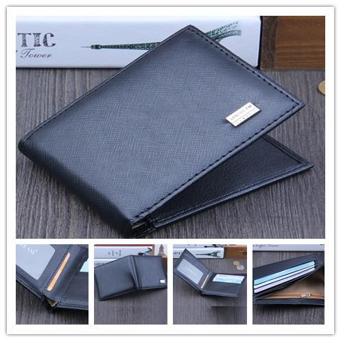 Men Bifold Business Leather Wallet  ID Credit Card Holder Purse men's wallet clutch portfel cuzdan billetera carteira  (25)