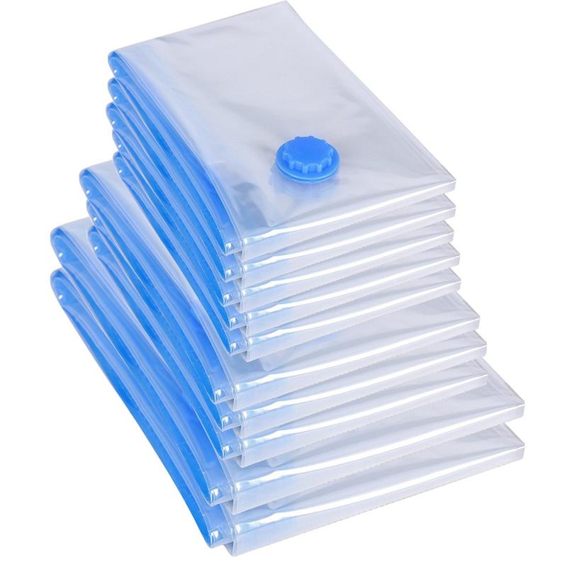20 шт прозрачный вакуумный мешок для хранения сумки Домашний Органайзер границы складной органайзер уплотнение сжатого для экономии места ...