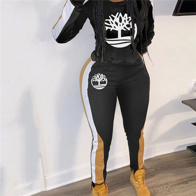 2020 European and American spring new track suit women's fashion women's multi-color printing casual sports two-piece suit (7)