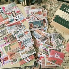 128 sztuk/paczka Vintage bilet dekoracyjna naklejka DIY dziennik z terminarzem Scrapbooking naklejki na album