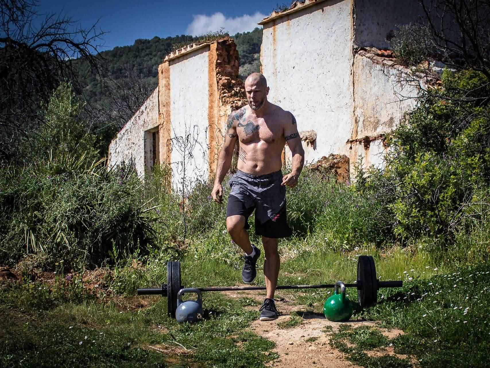 barbell row fitness bodybuilding