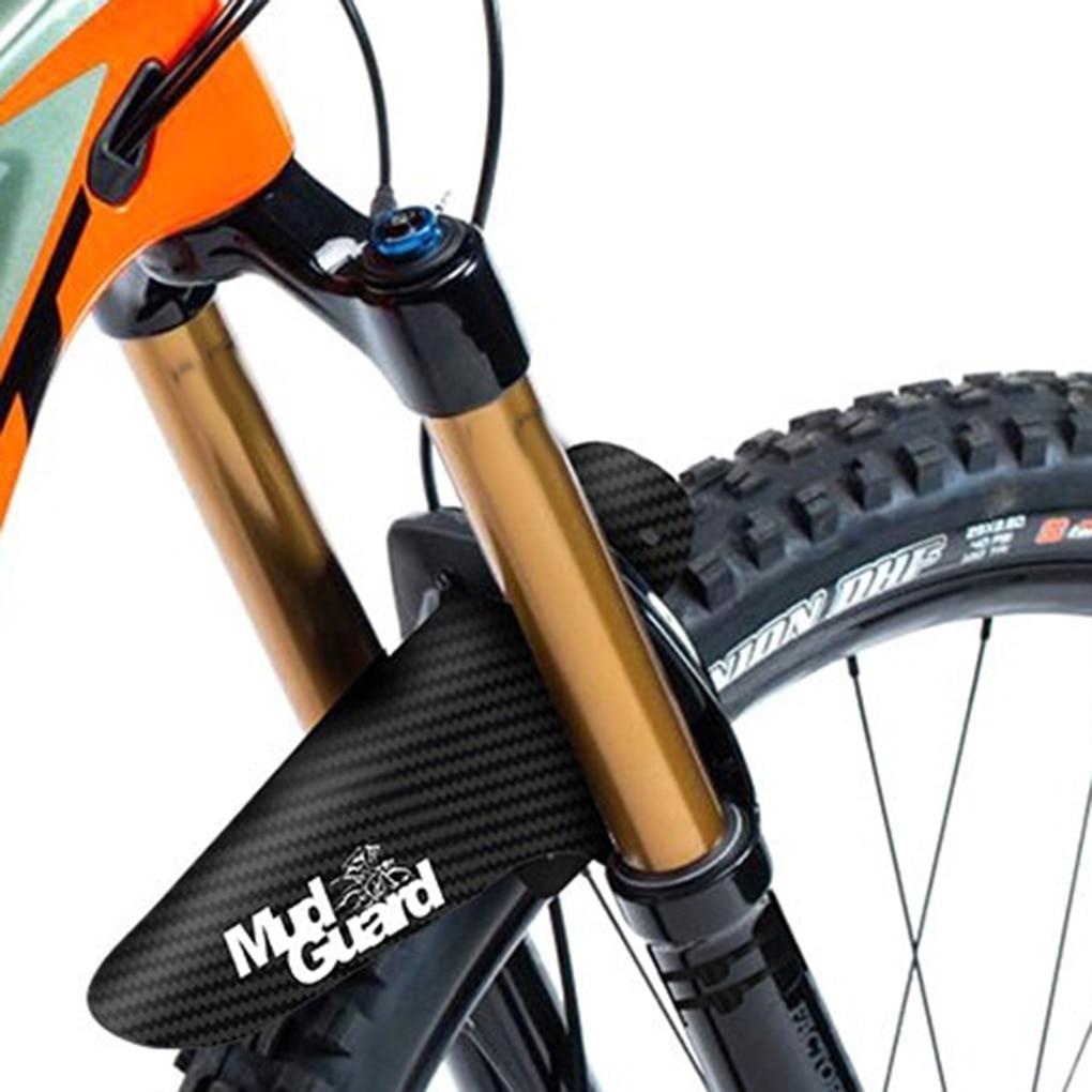 Guardabarros de bicicleta coloridos delanteros/traseros guardabarros de fibra de carbono bicicleta de montaña MTB ciclismo de carretera accesorios de fijación de engranajes