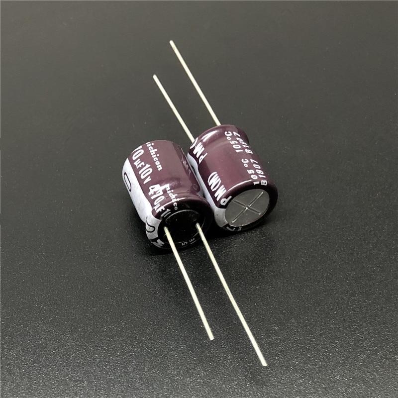 10pcs/100pcs 470uF 10V NICHICON PM Series 10x12.5mm 10V470uF Low Impedance Aluminum Electrolytic Capacitor