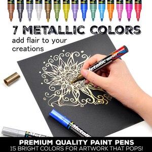 Image 5 - 15 kolorów akrylowy marker do malowania marker szkic piśmiennicze pióro malowanie zestaw do malowania szklana ceramiczna skała porcelanowa