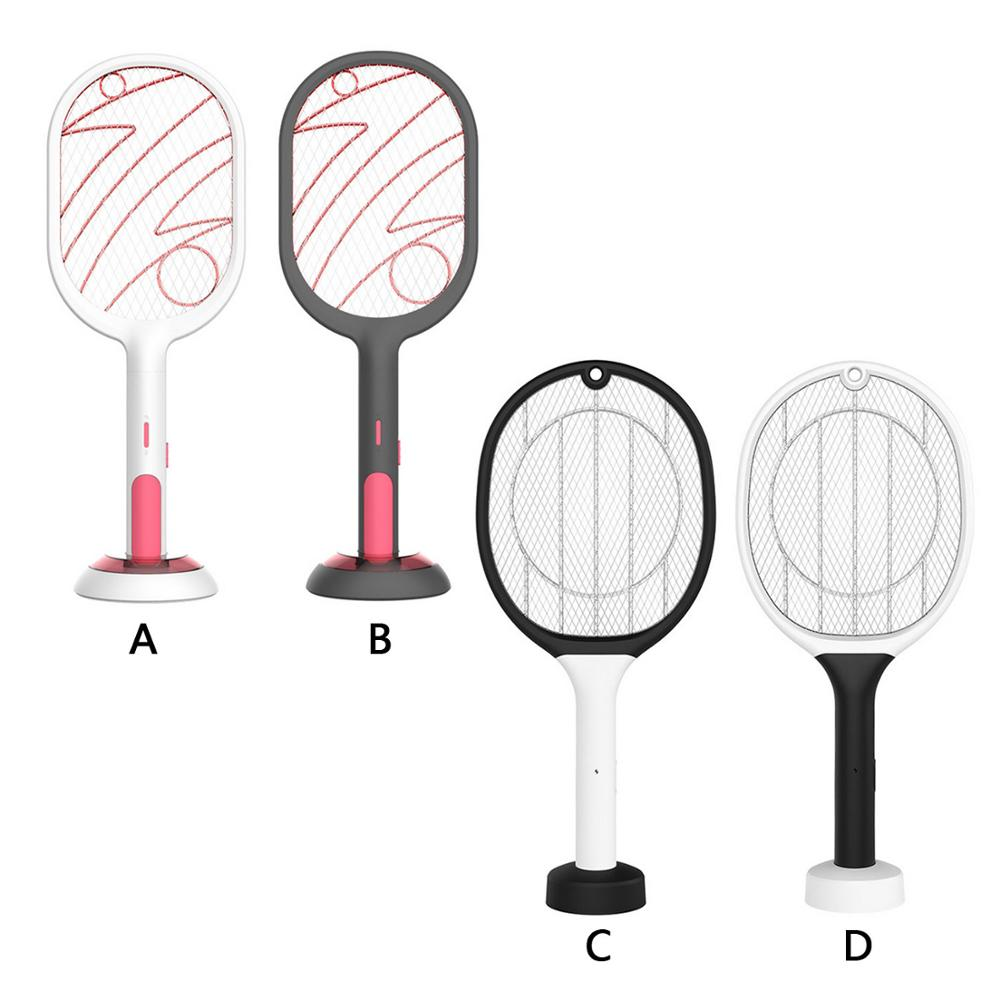 Handheld Home USB Rechargeable Electric Mosquito Swatter Killer Racket Insect Fly Bug Tennis Bat For Kids Baby Safty Care