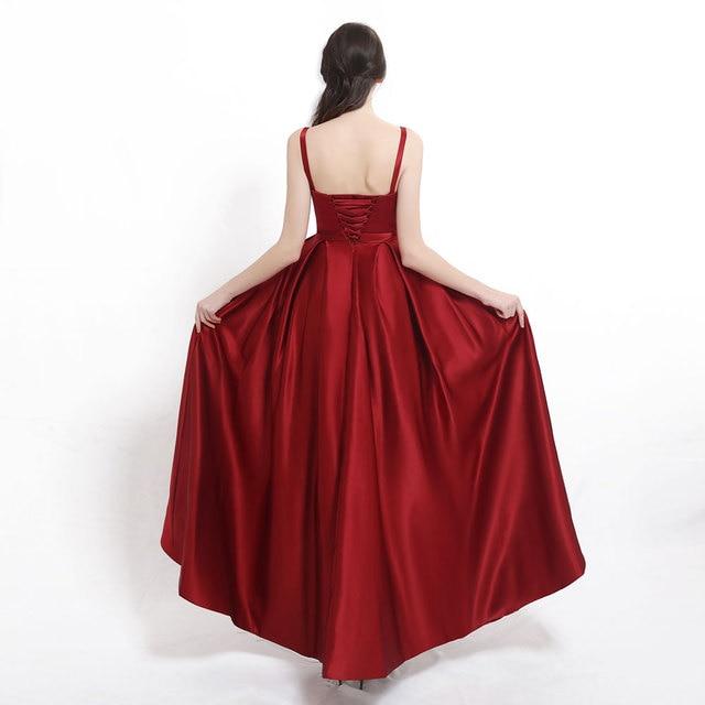 Vestido de noche de talla grande con abertura larga 2