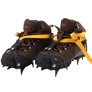 Image 5 - 10 zähne Outdoor Klettern Gleitschutz Steigeisen Einstellbare Winter Spaziergang Eis Bergsteigen Schneeschuhen Mangan Stahl Slip Schuh Abdeckungen