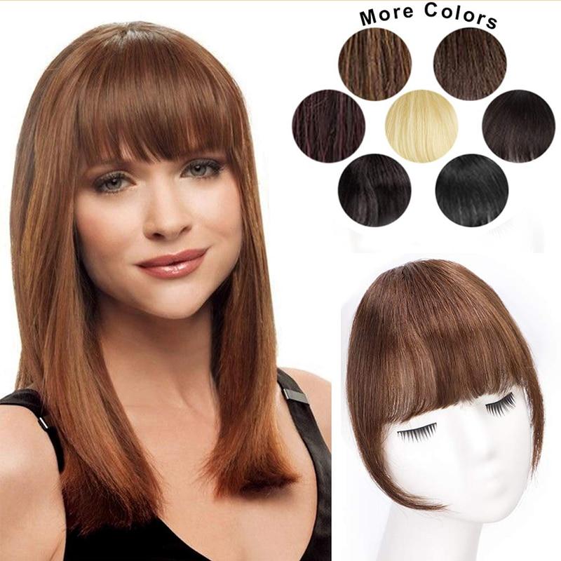 Frange Extensions de cheveux plat soigné frange mode synthétique 1 pièce pince dans les cheveux frange frange postiches Extensions de cheveux pour les femmes