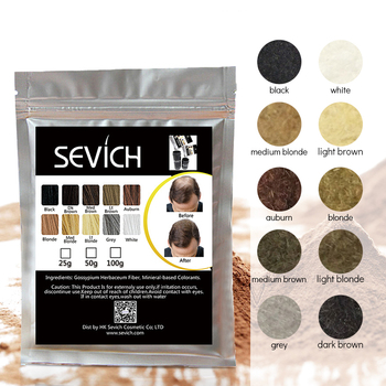 100g SEVICH keratin Hair Fiber Building Thinning Hair Loss Dye Styling Powder Hair Care Fibre Refill Spray Applicator 10colors