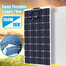 Solar panel 100w flexible 12V battery charger Monocrystalline solar cell for 1000w solar battery system kit china travel RV car цена и фото