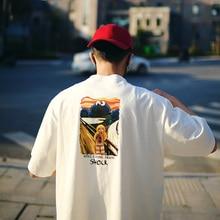 Oversized T Shirt Men Streetwear Art Graffiti Hip Hop