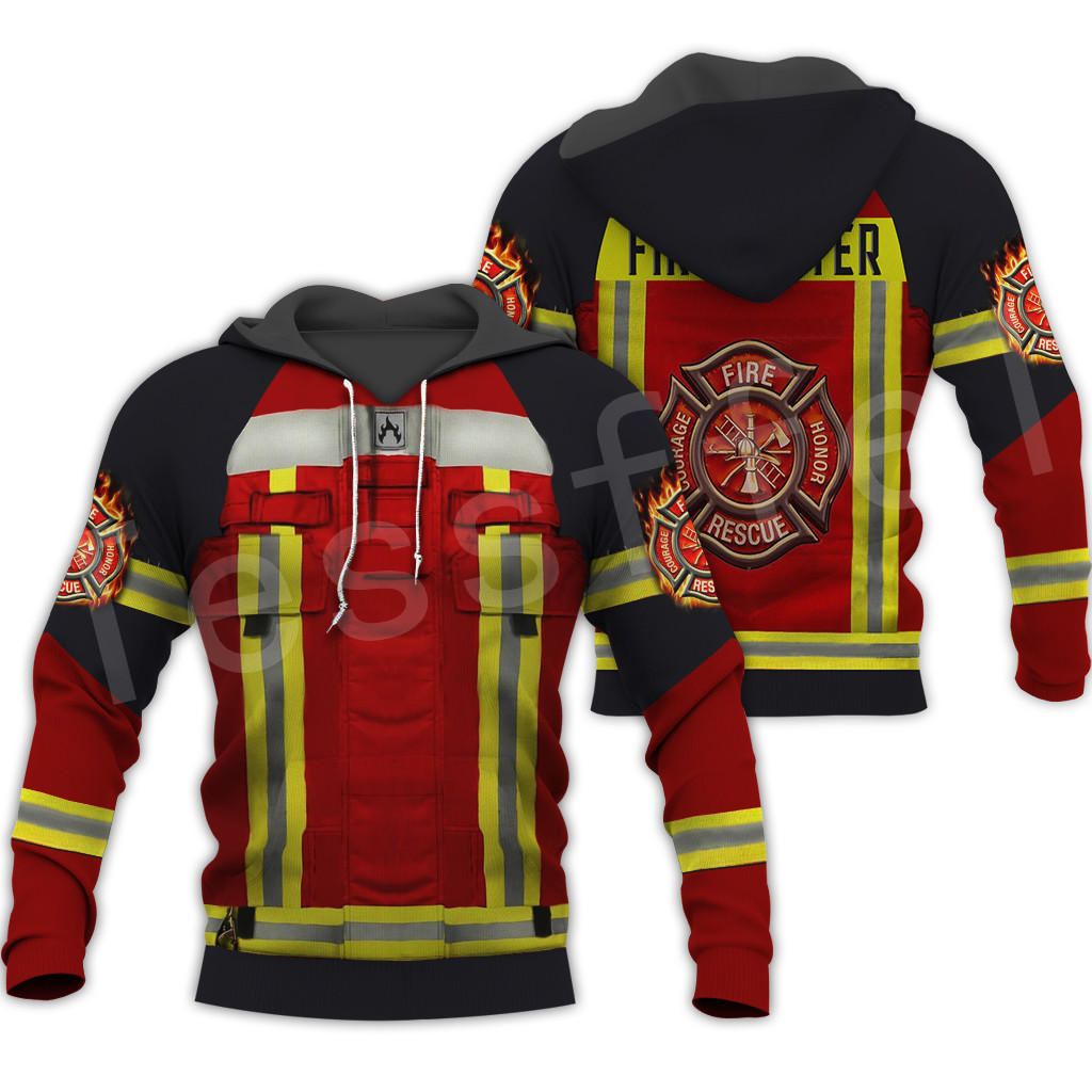 Tessffel Firefighters Suit Firemen Hero Harajuku Pullover NewFashion Casual 3DPrint Zip/Hoodies/Sweatshirts/Jacket/Men/Women B-4