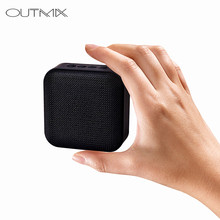 OUTMIX T5 Wireless Bluetooth Mini Speaker Stereo Portable Speakers Subwoofer Bluetooth 4.2 with SD FM Outdoor Column Loudspeaker