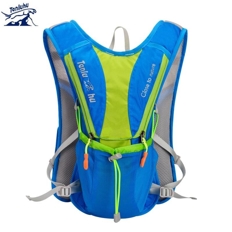 TANLUHU 10L Lightweight Backpack Running Vest Nylon Bag Cycling Marathon Portable Ultralight Breathable Hiking 2L Water Bag