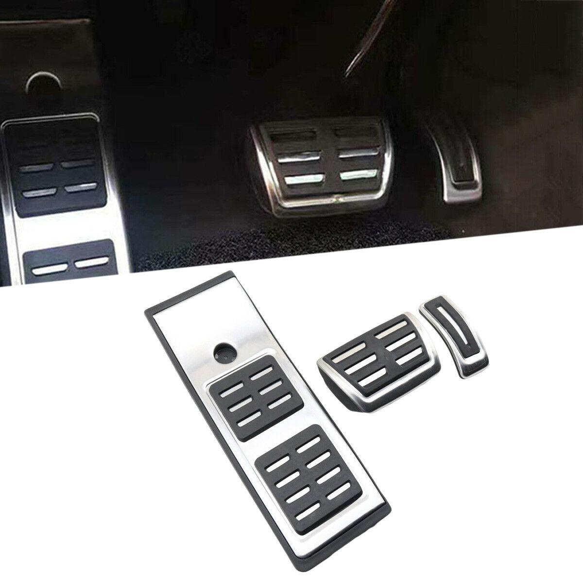 Keine Bohrer Kraftstoff Gas Accelerator Brems Fuß Rest Pedal Abdeckung Fit Für Audi Q5 SQ5 Zubehör ZU Pad 2017 2018 2019 modell-in Pedale aus Kraftfahrzeuge und Motorräder bei MYMOCCY Store