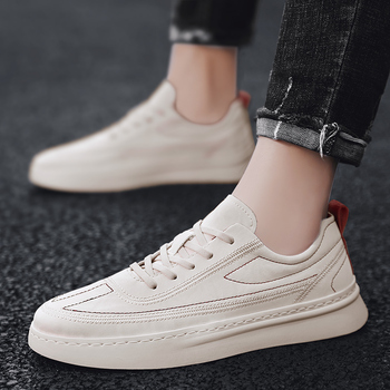 Men Sneakers Casual Shoes Breathable Leather Tenis lace up Trainers Mens Sneakers outdoor flats Handsome Walking Shoes men