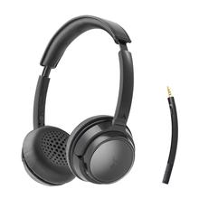 Avantree AH6B אלחוטי אוזניות עם מיקרופון מחשב מחשב מחשב נייד, נייד, Bluetooth על אוזן אוזניות עבור HiFi מוסיקה