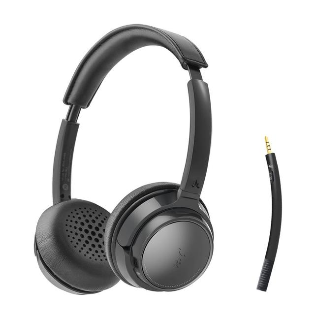 Avantree AH6B 무선 헤드셋 (마이크 포함) 컴퓨터 PC 노트북, 핸드폰, 블루투스 이어폰 형 헤드폰 (HiFi 음악 용)