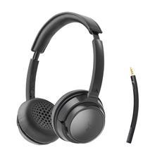 Avantree AH6B Wireless Headset with Microphone Computer PC Laptop, Cellphone, Bluetooth On Ear Headphones for HiFi Music