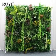 עצמי מזויפת דשא שטיח פרסית/עלים בגווניה Diy סימולציה דשא חלון/מלון/חנות רקע/מלאכותי דשא קיר תפאורה