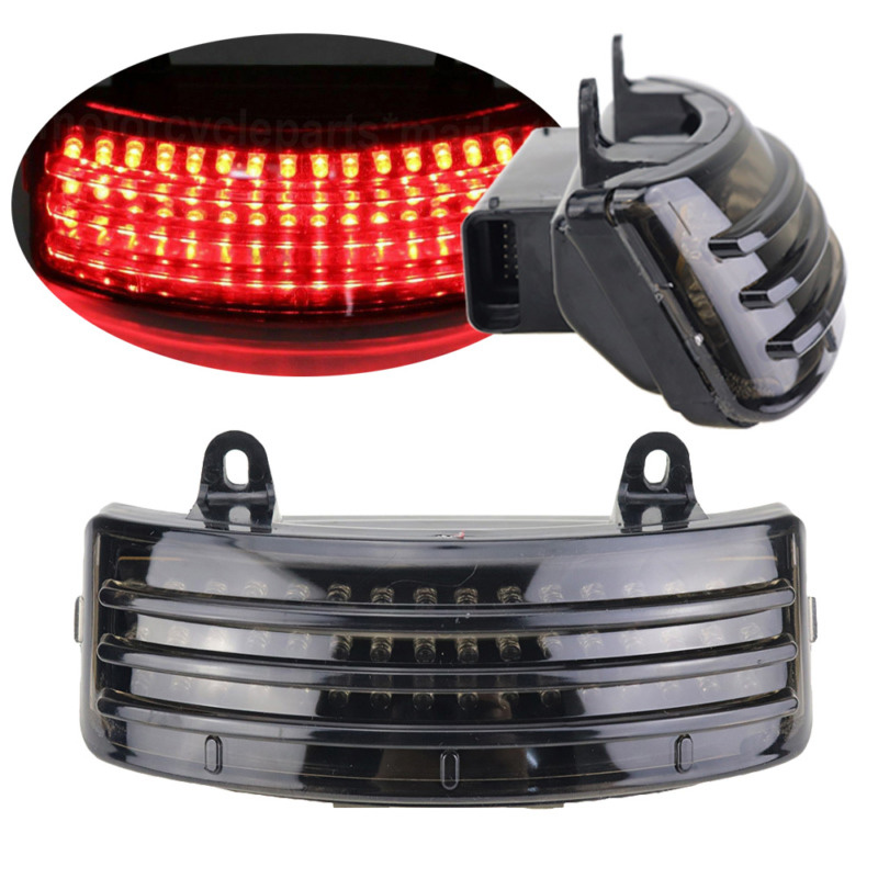 Motorcycle Smoke Tri-Bar 48 LEDs Rear Tail Fender Tip Light For Harley Street Glide 2014-2018 Road Glide 2015-2018