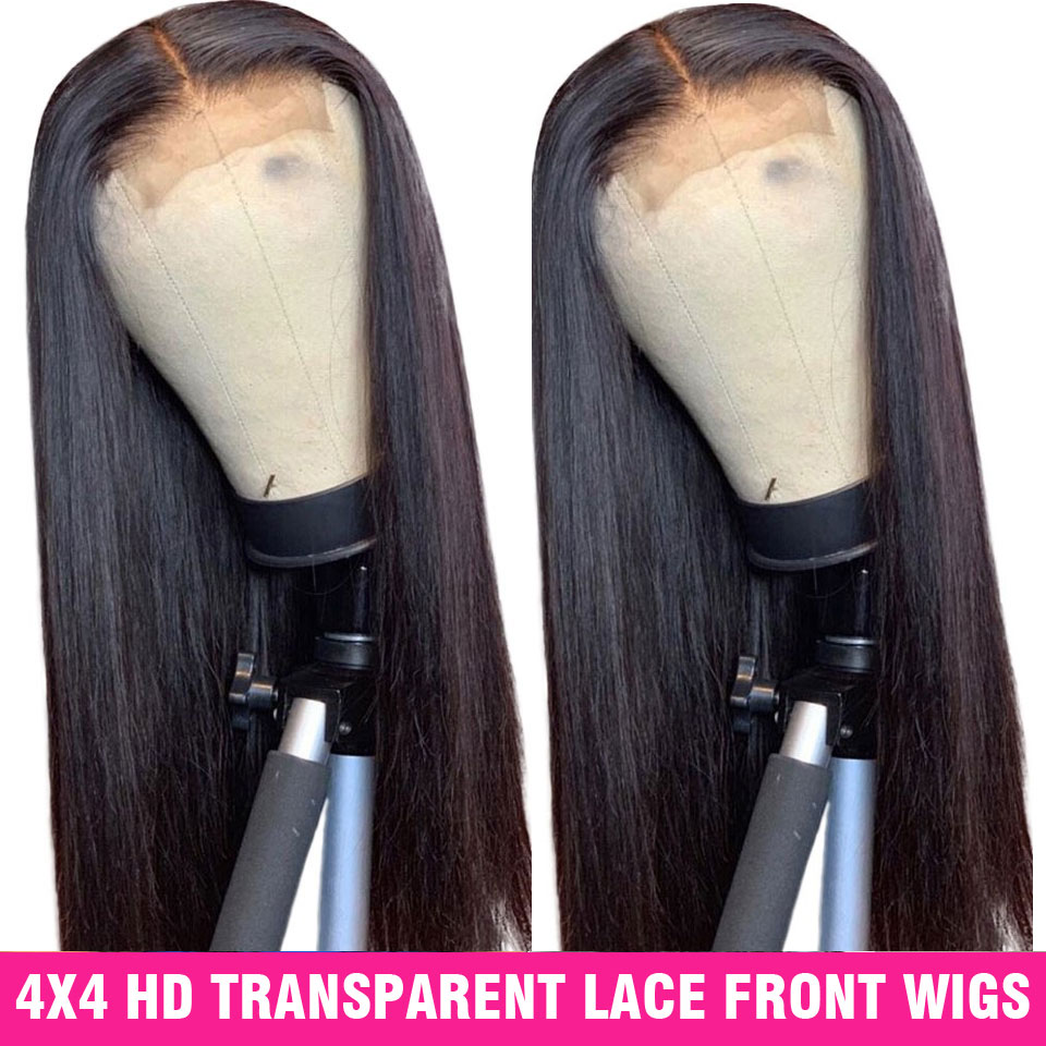 6X6 4X4 Lace Closure Wig Hd Transparent Lace Frontal Wig 150% Peruvian Wig Straight  Lace Front Human Hair Wigs For Women Remy