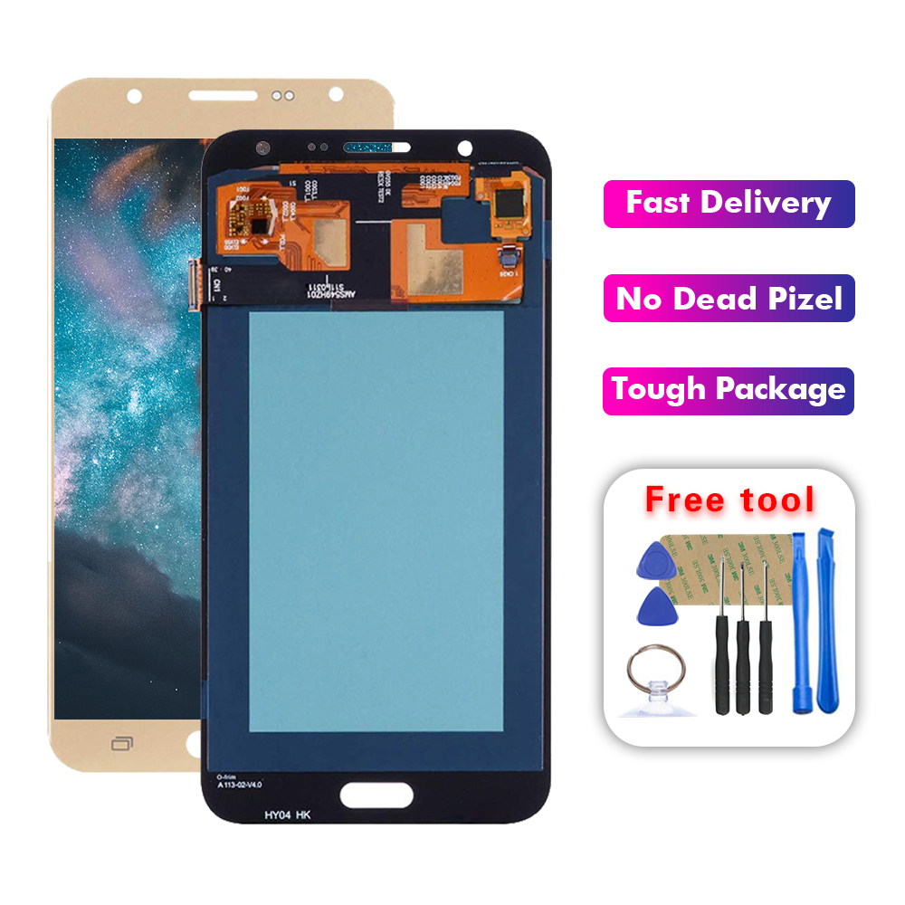 AMOLED LCD For <font><b>Samsung</b></font> <font><b>Galaxy</b></font> <font><b>j7</b></font> <font><b>2017</b></font> <font><b>Display</b></font> <font><b>J7</b></font> Pro 2016 J700 J700F LCD <font><b>Display</b></font> Touch Screen Assembly Replacement Free Tools image