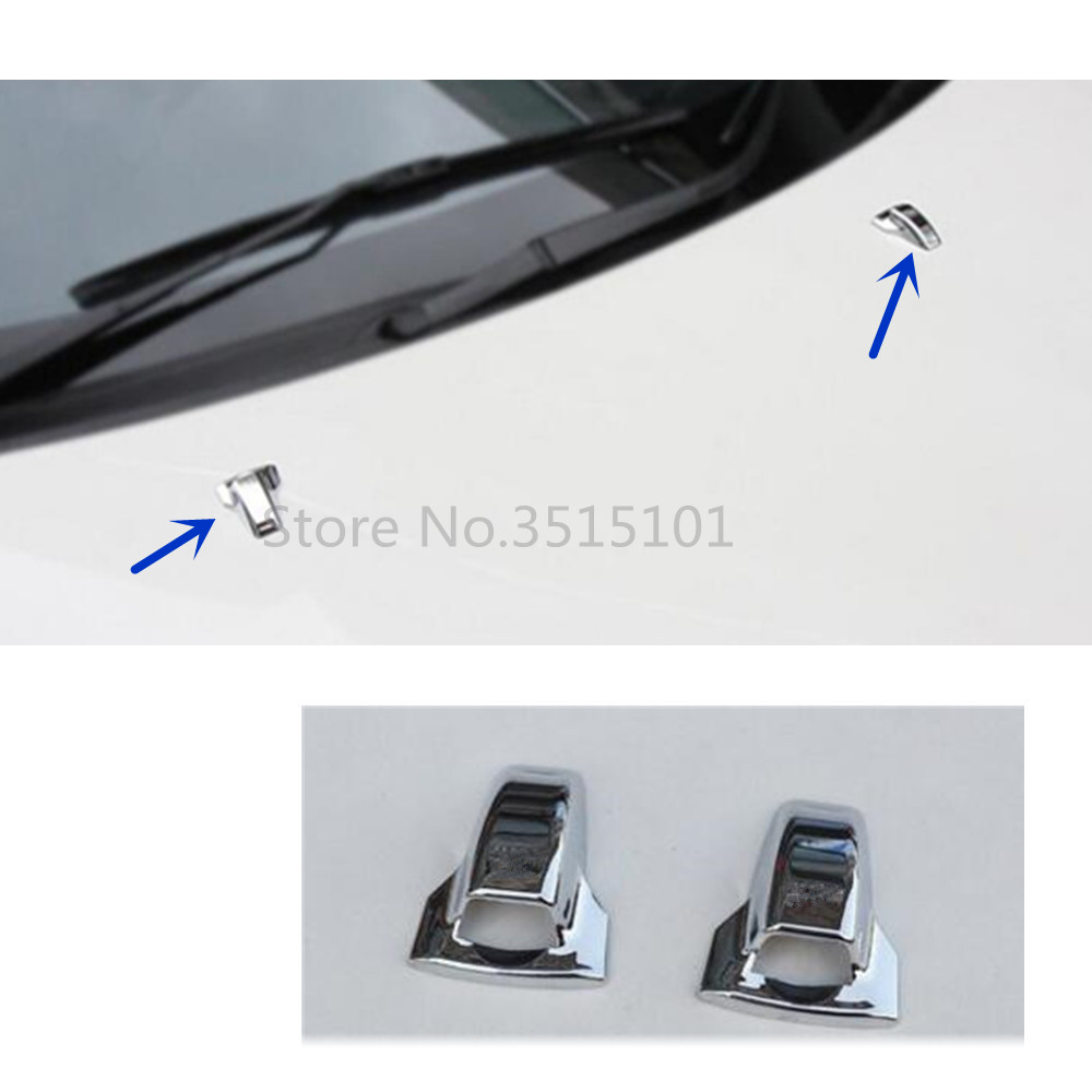 Car Cover ABS Head Front Machine Water Wash Paste Outlet Stick Lamp Frame Trim 2pcs For Mitsubishi ASX 2013 2014 2015 image