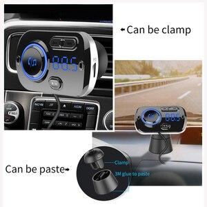 PATCHSKY Handsfree Bluetooth 5,0 автомобильный комплект mp3 воспроизведения музыки с QC3.0 + usb-портом цветной светодиодный fm-передатчик 3,5 мм Aux TF карта