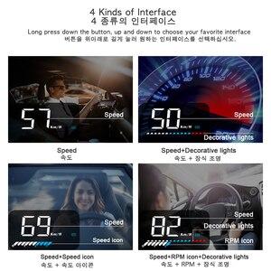 Image 4 - Автомобильное универсальное двойное Автомобильное зарядное Системы HUD Дисплей OBD II/GPS Интерфейс автомобиля Скорость миль в час) или км/ч и двигателя (об/мин) над Скорость Предупреждение пройденное расстояние в милях