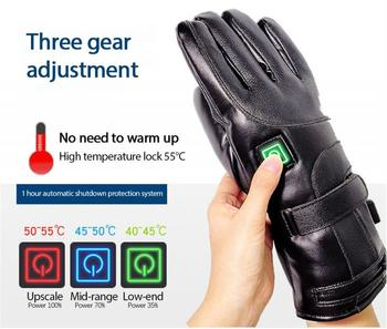 Men/Women Rechargeable Electric Warm Heated Motorcycle Gloves Battery Powered Gloves Winter Sport Heated Gloves 2800/4000 mAh electric thermal gloves winter usb hand warmer cycling motorcycle bicycle ski gloves rechargeable battery heated gloves