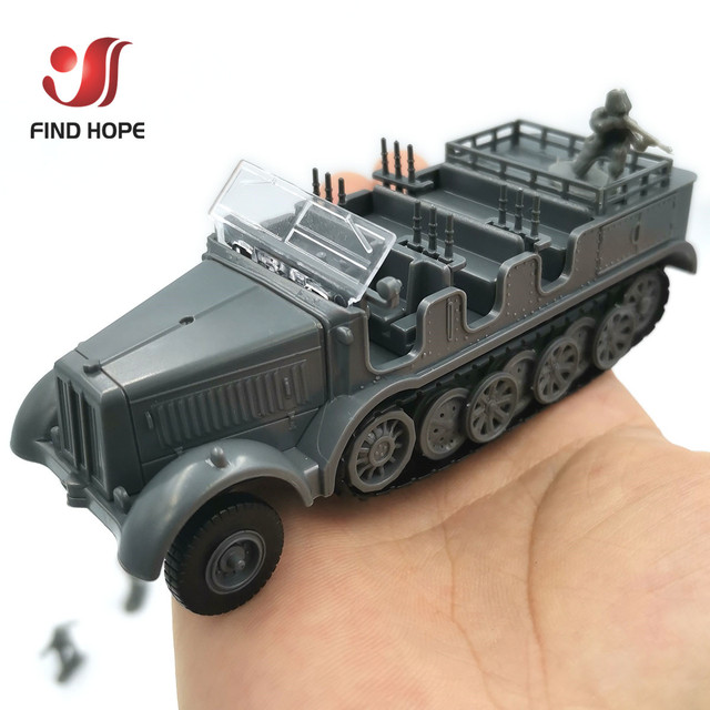 1:72 Sd.Kfz. 7 Half-Track Military Vehicle Plastic Assembly Model Armored Car +10Pcs Soldiers MODEL 6