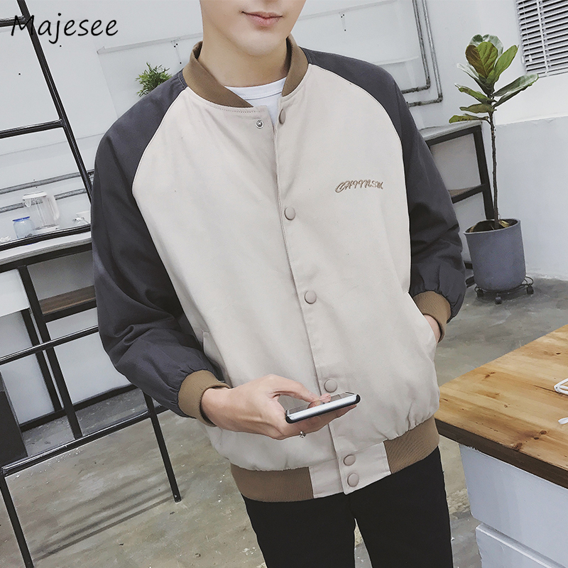Plus Size Men Jacket Stand Harajuku Clothes Autumn Korean Style High Fashion Single Breasted Mens Jackets And Coats Streetwear