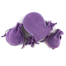 цены Velvet Gift Bags Purple 7x9cm 9x12cm Jewelry Wedding Pouches Christmas Candy Holder Bag Drawstring Pouch
