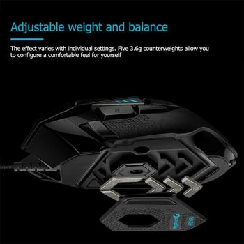 Logitech G502 Hero Gaming Mouse 16000DPI RGB Backlight Programmable Mouse Professional gaming Mice for PUBG LOL Desktop Laptop 5