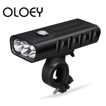 OLOEY Bicycle Light USB Rechargeable 5200mAh Headlight Lamp T6 LED Front Light Night Cycling Waterproof Bike Light FlashLight oloey bicycle light t6 led 5200mah headlight lamp usb rechargeable front light night cycling waterproof bike light flashlight