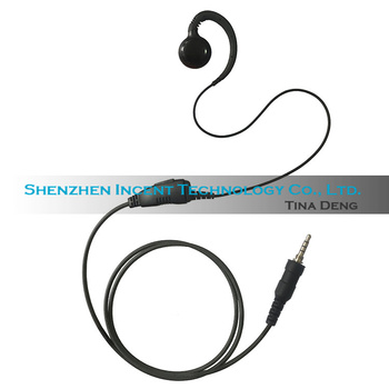 VOIONAIR 20pcs/lot Restaurant C Shape Ear Hook Earpiece Earphone Headset Inline PTT for Vertex EVX-S24