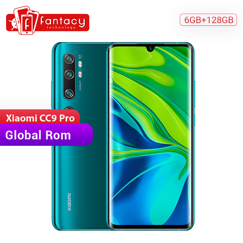 128gb xiaomi mi cc9 pro global rom 6gb ram snapdragon 730g smartphone 108mp penta cams 5260mah 6.47'' amoled curved display