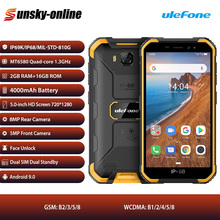 Ulefone Armor X6 Rugged iP68 Waterproof Smartphone 2GB+16GB Android 9.0 Cell Phone 5 inch Dual SIM Quad core 3G LTE Mobile Phone