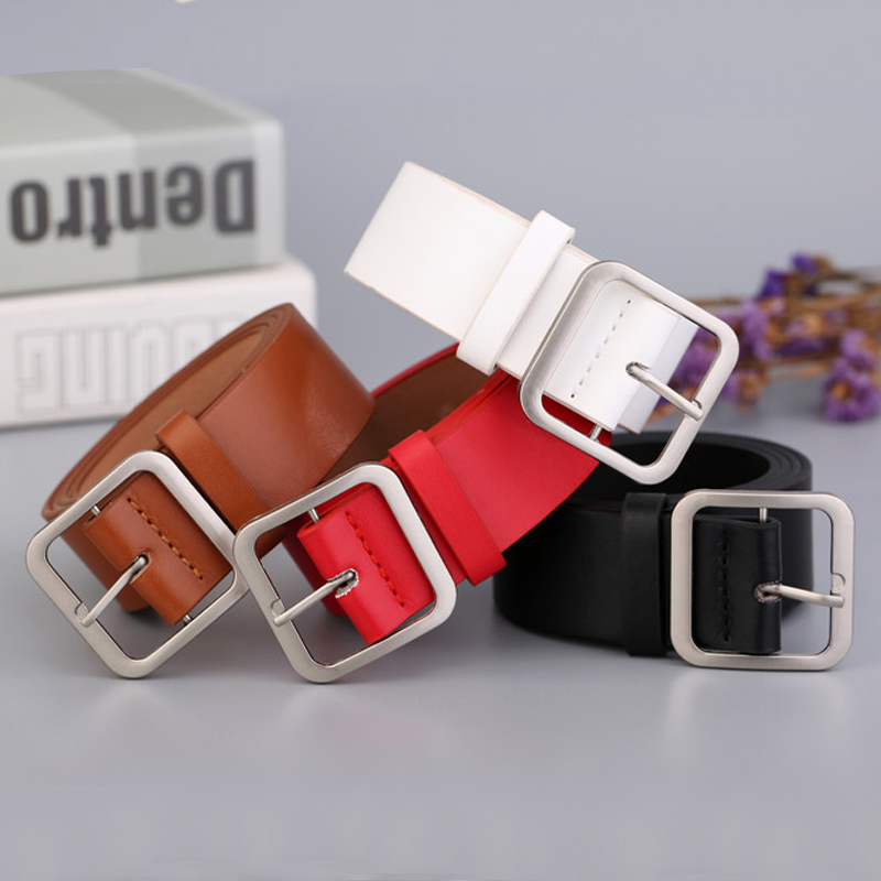 Fashion Belt Female Japanese Pin Buckle Decoration Elegant Simple Wild Student Retro Jean New Design Ladie Wide Belt