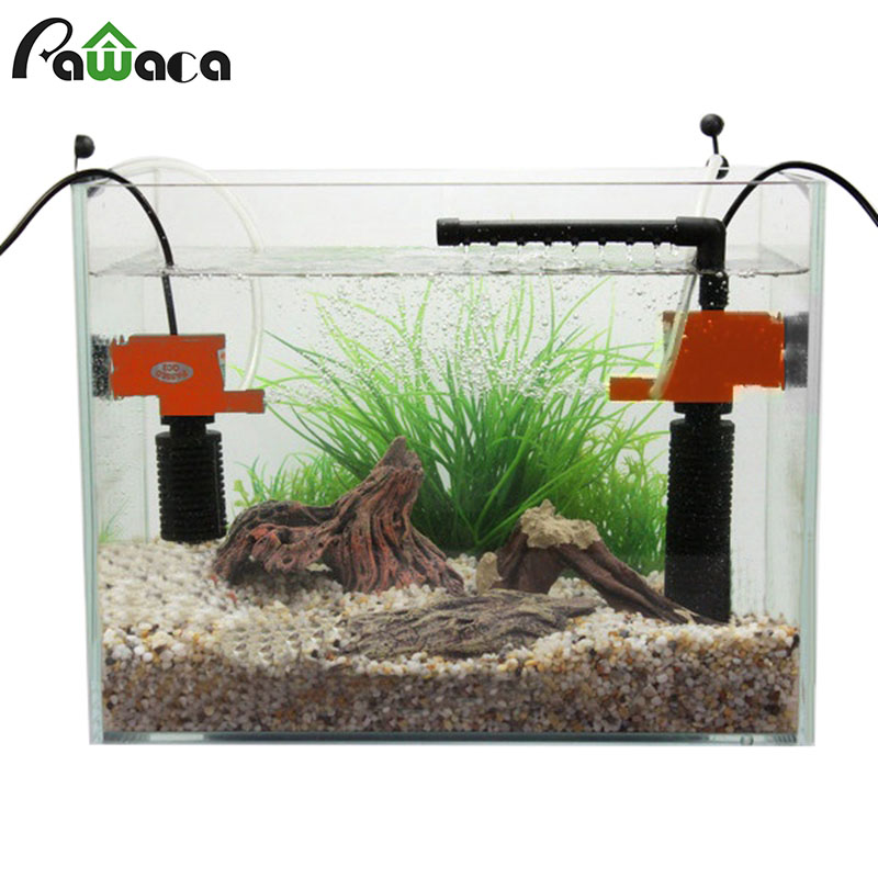 3 in 1 Silent Aquarium Filter Internal Submersible Oxygen <font><b>Pump</b></font> <font><b>Water</b></font> Sponge With Rain Spray for Fish Tank Air Increase 3/5 W image