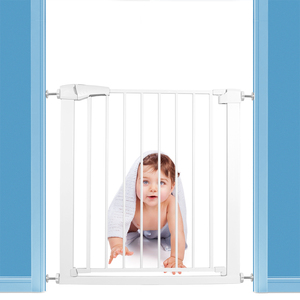 Children Safety Gate Baby Safety Door Bar Fence Stairs Pet Isolating Dog Fence Protect Children's Safety Many Size 75-110cm(China)