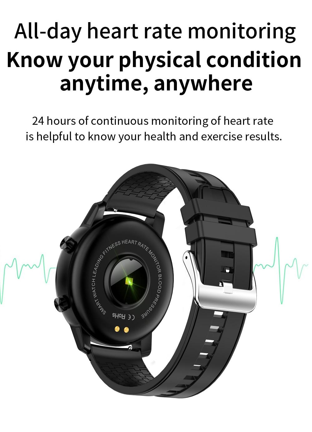SENBONO 2020 S30 Heart Rate/Blood Pressure Monitoring Smart Watch IP68 Waterproof Men's and Women's Sport Tracker Smart Bracelet 4
