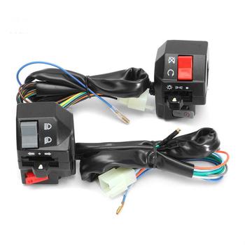 7 8 #8222 22mm przełączniki motocyklowe motocykl ATV Horn reflektor kierunkowskazu elektryczny Start kierownica kontroler przełączniki 1 para tanie i dobre opinie CN (pochodzenie) 0 42kg 5 7cm 7 1cm 6 9cm Wyłączniki motocyklowe