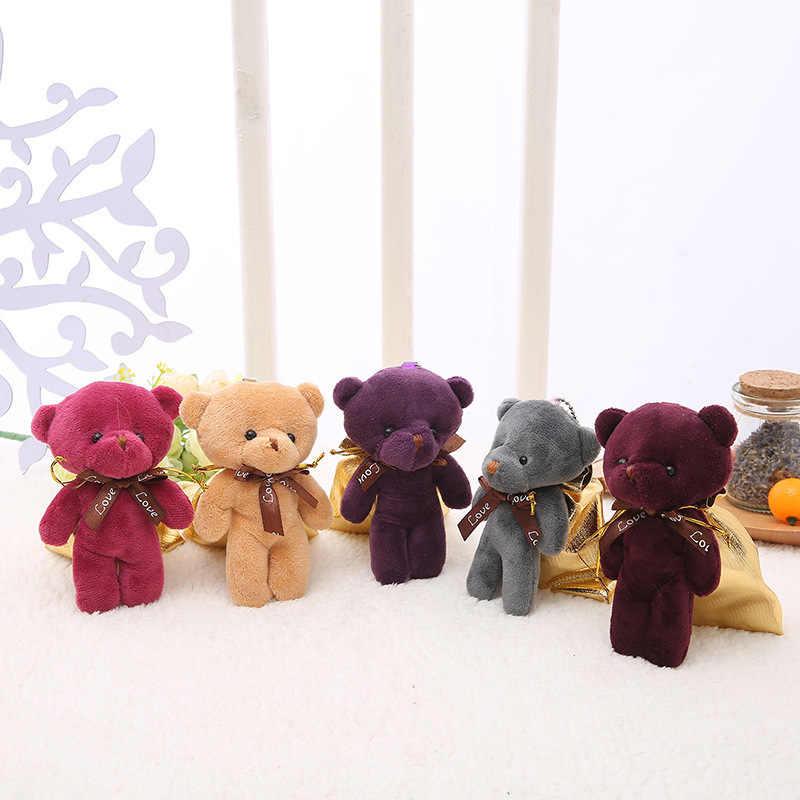 1PC Mini Urso Conjunta de Pelúcia Brinquedos de Pelúcia Boneca Pingente de Pelúcia PP Algodão Macio Nu Ursos Buquê Boneca de Brinquedo Do Presente Do Feriado saco Pendurado