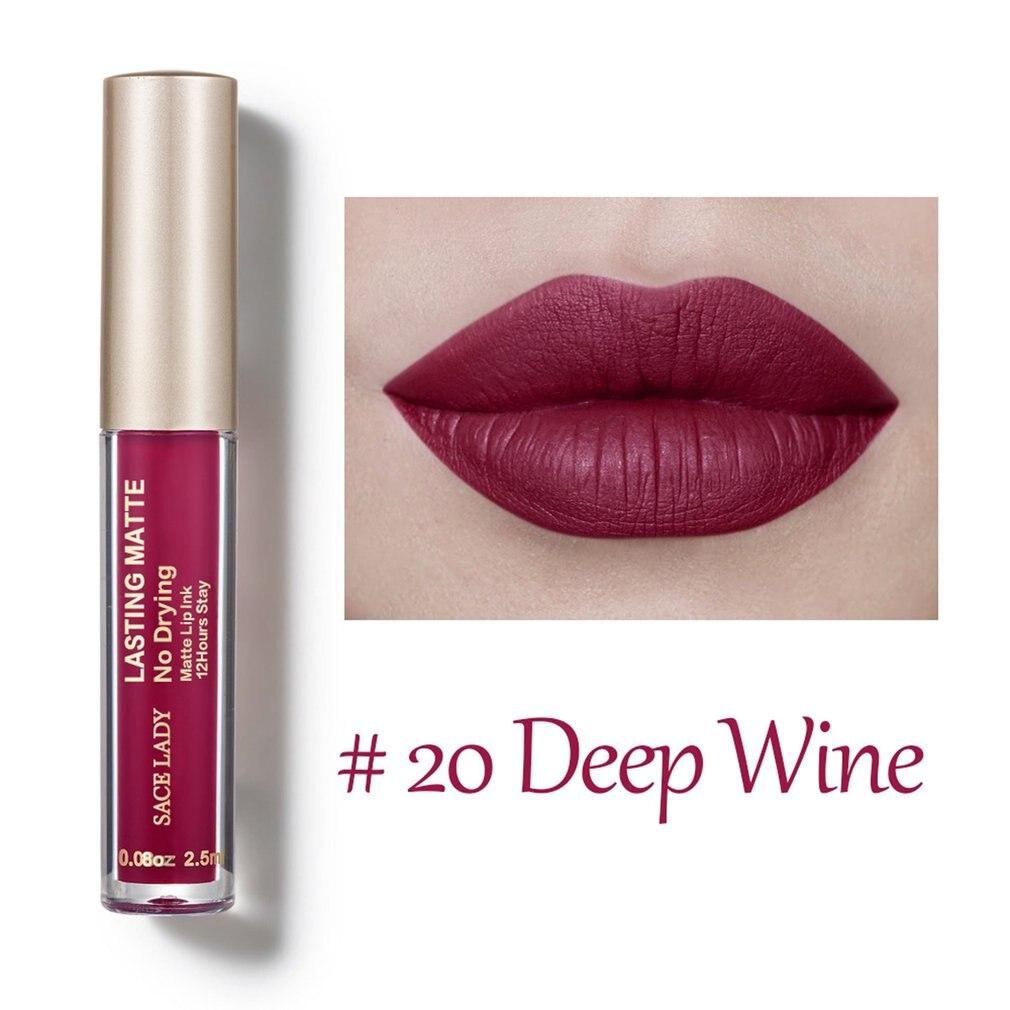 SACELADY Woman Matte Liquid Lipstick Lip Gloss Professional Waterproof Makeup Matte Lipstick Lip Kit Long Lasting Cosmetics