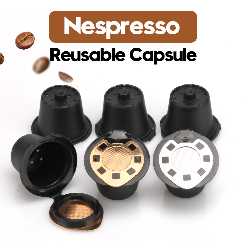 Coffee Filters For Nespresso Stainless Steel Mech Refillable Coffee Capsule Pod Dripper Basket Cup Cafeteira Silver Gold