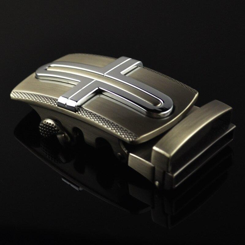 Genuine Men's Belt Head, Belt Buckle,Leisure Belt Head Business Accessories Automatic Buckle Width 3.5CM Luxury Belts LY125-0443