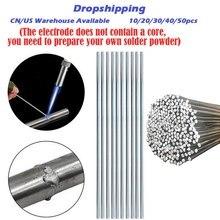 10/20/30/40/50pcs Aluminum Welding Rod Brazing Need Own Solder Powder 1.6/2/3MM Low Temperature Sodering Flux Welding Wires